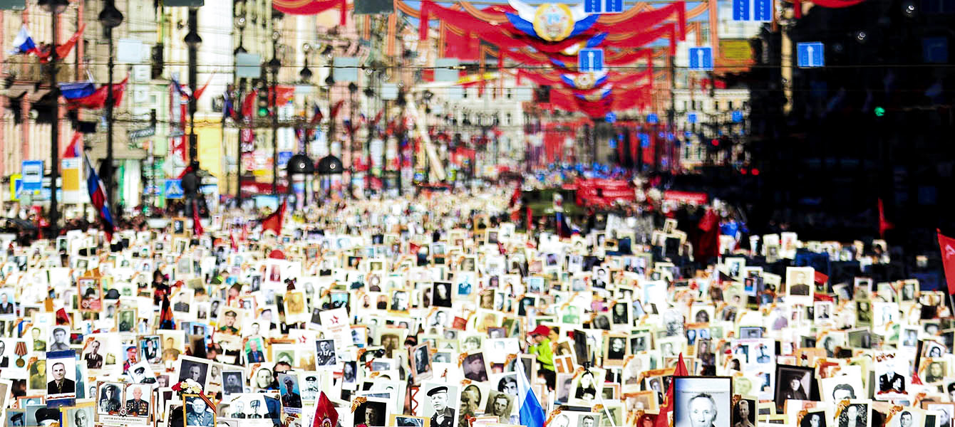 Шествие Бессмертного Полка в Санкт-Петербурге
